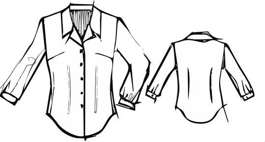 Раскраски Блузки Карандашом